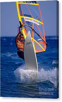 Windsurfing Canvas Print by George Atsametakis