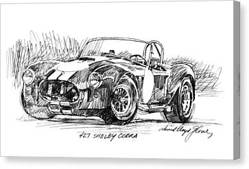 427 Shelby Cobra Canvas Print by David Lloyd Glover