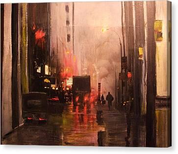42nd And Broadway Ny Ny Canvas Print