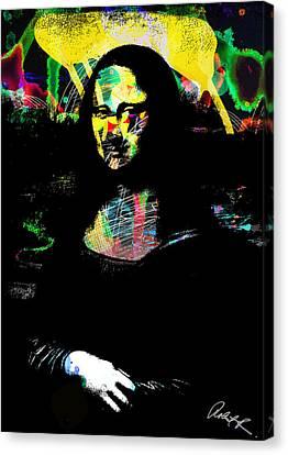 42x60 Mona Lisa Screwed - Huge Signed Art Abstract Paintings Modern Www.splashyartist.com Canvas Print
