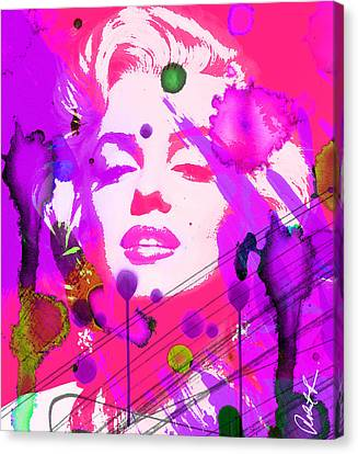43x48 Marilyn Pretty In Pink - Huge Signed Art Abstract Paintings Modern Www.splashyartist.com Canvas Print