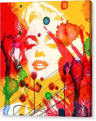 43x48 Who Shot Marilyn - Huge Signed Art Abstract Paintings Modern Www.splashyartist.com Canvas Print
