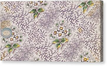 French Fabrics First Half Of The Nineteenth Century 1800 Canvas Print by Litz Collection