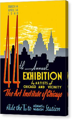 44th Annual Exhibition By Artists Of Chicago And Vicinity Canvas Print by Mark E Tisdale