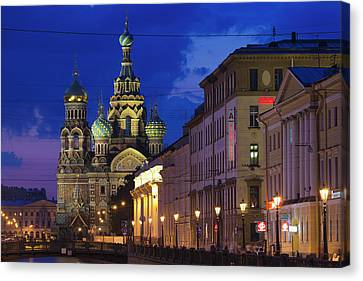 Russia, Saint Petersburg, Center Canvas Print by Walter Bibikow