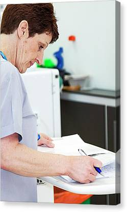 Empower Canvas Print - Shared Care Dialysis Unit by Life In View