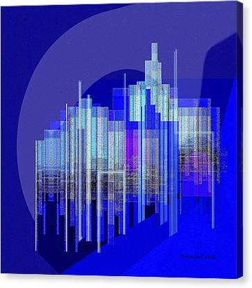 462 - Big City Abstract ... Canvas Print by Irmgard Schoendorf Welch