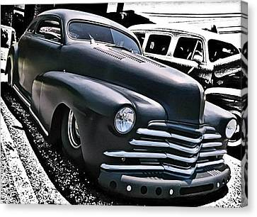Canvas Print featuring the photograph '47 Chevy Lowrider by Victor Montgomery