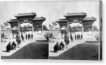 Canvas Print featuring the painting China Boxer Rebellion by Granger