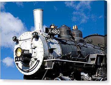 Canvas Print featuring the photograph 480 Locomotive by Sylvia Thornton