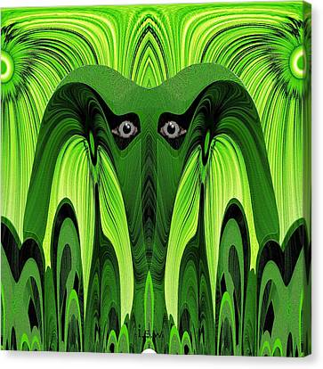 482 - Green Ghost Of The Woods Canvas Print by Irmgard Schoendorf Welch