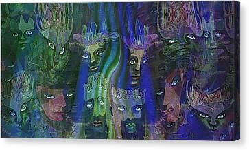 484 - Feline  People   Canvas Print