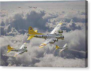 B17 Canvas Print - 487th Bomb Group by Pat Speirs