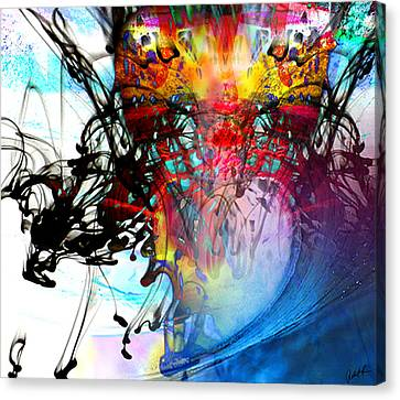 48x41 The Scream 2012 Blue Ocean Wave - - Signed Art Abstract Paintings Modern Www.splashyartist.com Canvas Print