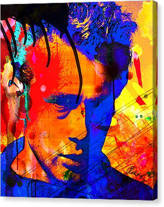 48x43 James Dean Hollywood Star - Huge Signed Art Abstract Paintings Modern Www.splashyartist.com Canvas Print