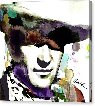 48x46 Huge John Wayne - Signed Art Abstract Paintings Modern Www.splashyartist.com Canvas Print