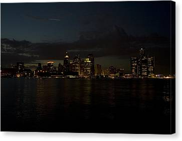 Clouds Canvas Print - Detroit Skyline by Gary Marx