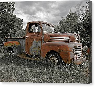 Canvas Print featuring the photograph '49 Ford Pick-up by Christopher McKenzie