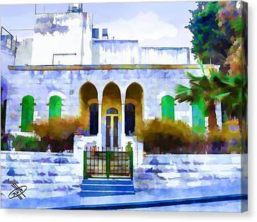 Jordan Canvas Print - Jordan/amman/old House by Fayez Alshrouf