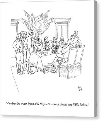 Founding Fathers Canvas Print - Anachronism Or by Paul Noth