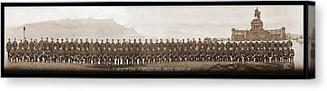 3rd Corps Canvas Print - 4th Co. 3rd Corps. 1st Artillery Park by Fred Schutz Collection