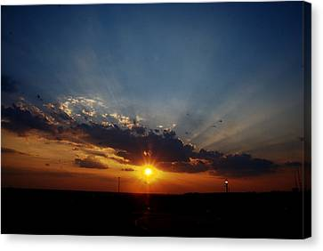 4th July Sunset 2013 Canvas Print by Roy Williams