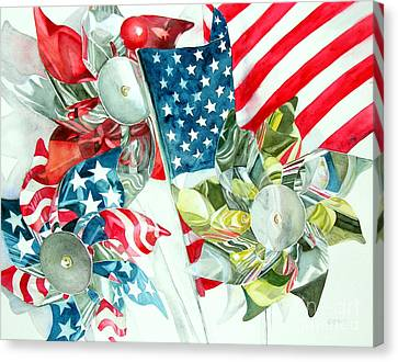 4th Of July Canvas Print by Elizabeth  McRorie
