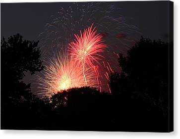 Explosion Canvas Print - 4th Of July Fireworks - 01131 by DC Photographer