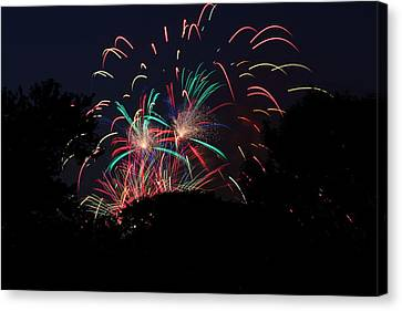4th Of July Fireworks - 011310 Canvas Print by DC Photographer