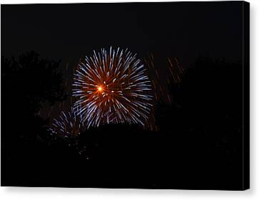 Explosion Canvas Print - 4th Of July Fireworks - 011314 by DC Photographer