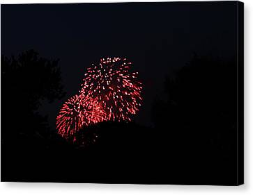 4th Of July Fireworks - 011317 Canvas Print