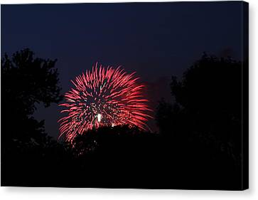 Explosion Canvas Print - 4th Of July Fireworks - 01136 by DC Photographer