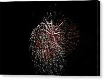 4th Of July Fireworks Canvas Print by Alan Hutchins