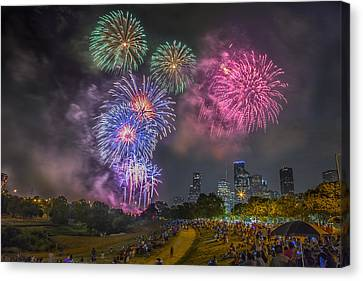 4th Of July In Houston Texas Canvas Print by Micah Goff