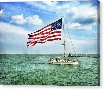 Canvas Print featuring the photograph 4th Of July - Navy Pier - Downtown Chicago by Photography  By Sai
