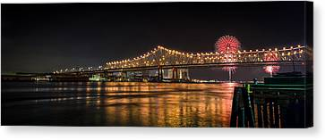 4th Of July Over The Big Easy Part Deaux Canvas Print by David Morefield