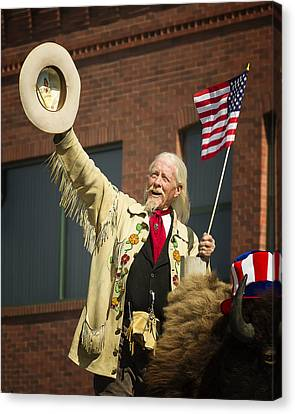 4th Of July With Buffalo Bill Canvas Print by Elaine Haberland