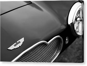 1953 Aston Martin Db2-4 Bertone Roadster Hood Emblem Canvas Print