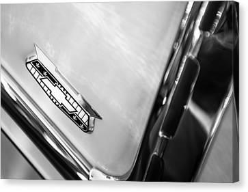 1955 Chevrolet Belair Emblem Canvas Print by Jill Reger