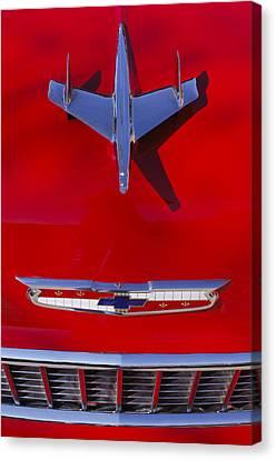 1955 Chevrolet Belair Nomad Hood Ornament Canvas Print