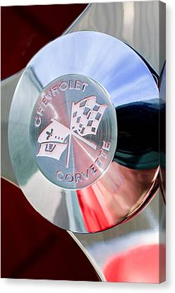 1960 Chevrolet Corvette Steering Wheel Emblem Canvas Print