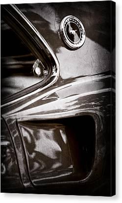 1969 Ford Mustang Mach 1 Emblem Canvas Print by Jill Reger