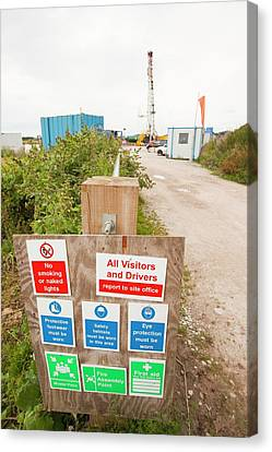 A Test Drilling Site For Shale Gas Canvas Print by Ashley Cooper