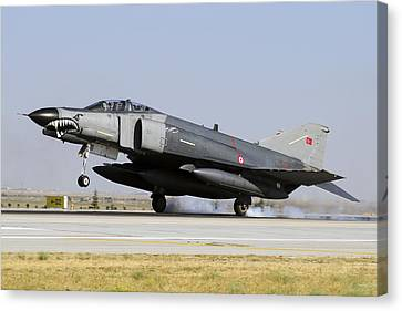 A Turkish Air Force F-4e-2020 Canvas Print by Daniele Faccioli