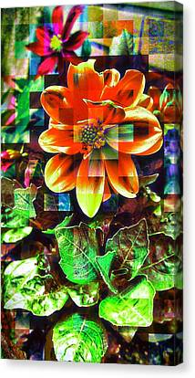 Edit Canvas Print - Abstract Flowers by Chris Drake