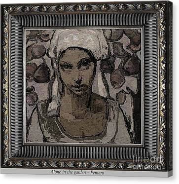 Alone In The Garden Canvas Print by Pemaro