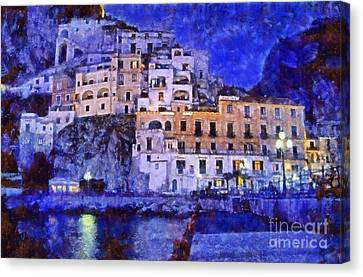 Amalfi Town In Italy Canvas Print