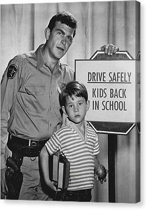 Andy Griffith Show Canvas Print - Andy Griffith by Retro Images Archive