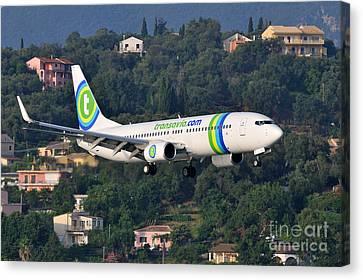 Greek Canvas Print - Approaching Corfu Airport by George Atsametakis