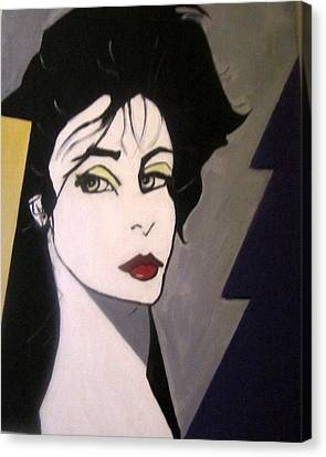 Canvas Print featuring the painting Art Deco by Nora Shepley